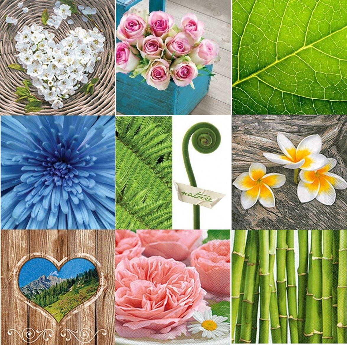 20 pck beautiful vintage decorative paper napkins nature floral party occasion - Decorative Paper Napkins
