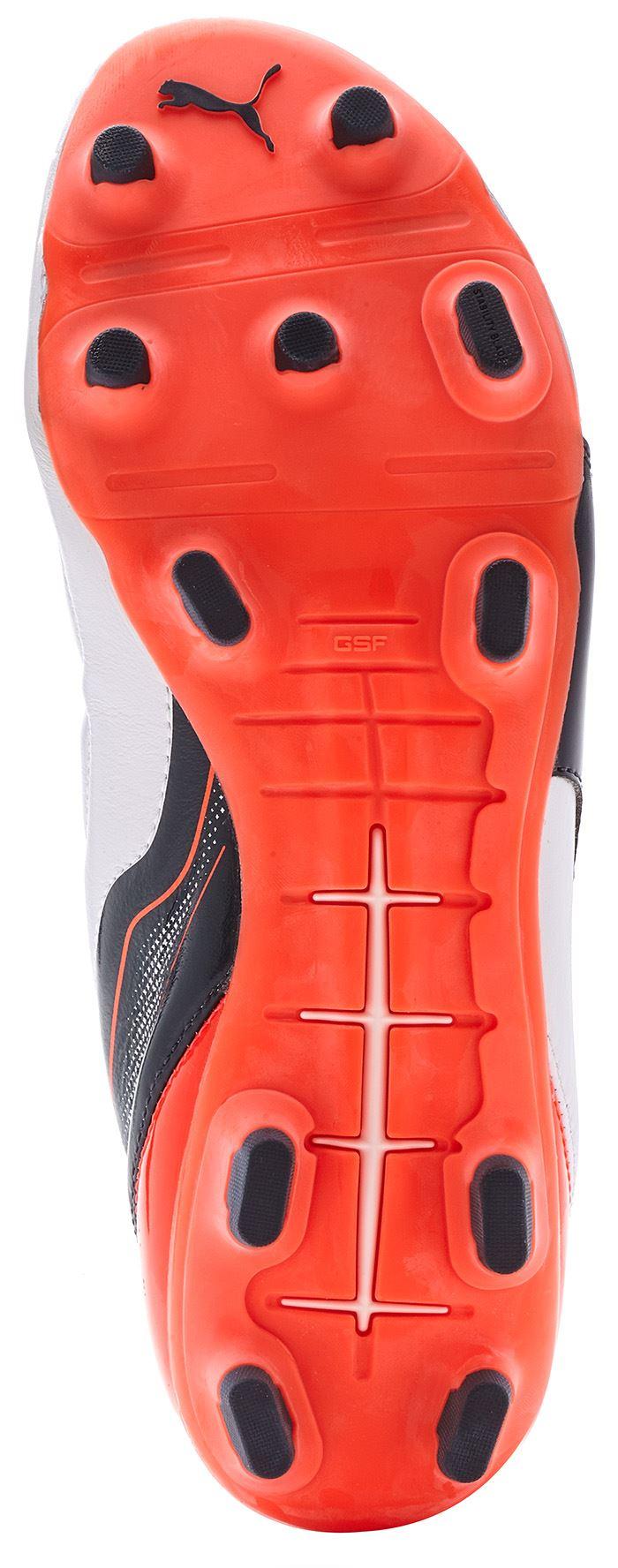 Evopower Puma 1,2 & 2.2 Scarpe Scarpini Da Calcio Gli Scarpini Scarpe Da Calcio In Nero - Bianco - Rosso E Arancione bdd780
