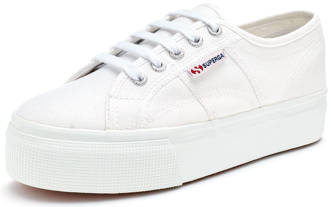 842eb759ca5 Superga 2790 ACOTW Linea Up Down Platform Plimsoll Canvas Shoes Blue ...