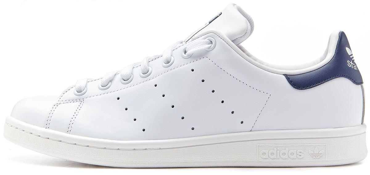 Adidas Originals - Stan Smith - Baskets - Blanc et bleu marine - Blanc wzhKM5L