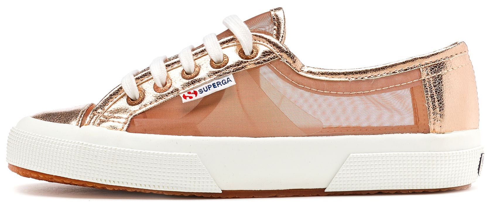 3f1cd3c4d8f7 Details about Superga 2750 Netw See Trough in Metallic Rose Gold C90
