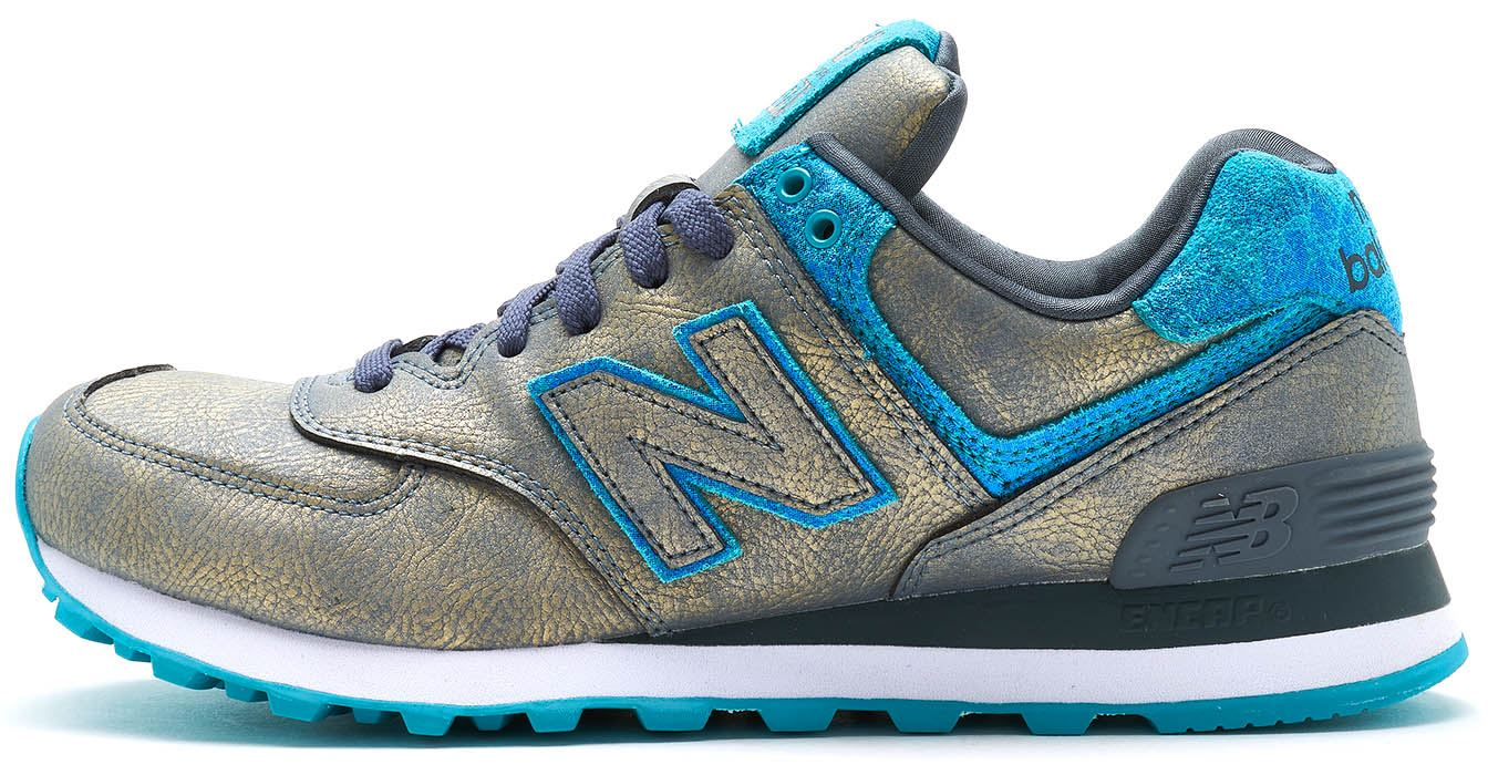 5937d6ed3a19 Details about New Balance 574 Retro Trainers in Silver   Blue WL574 MGC