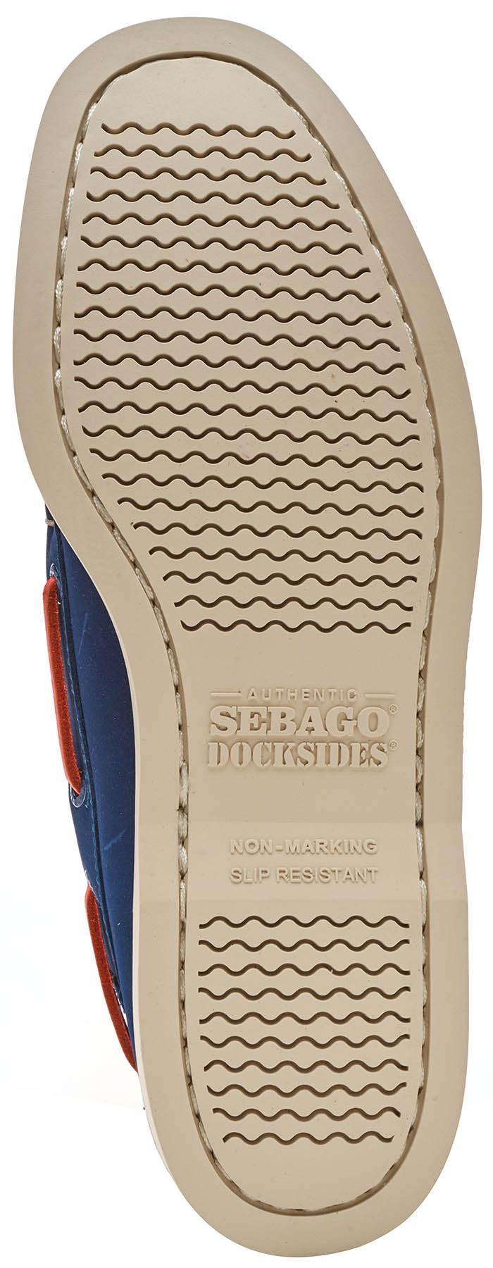 Sebago-Docksides-NBK-Suede-Boat-Deck-Shoes-in-Navy-Blue-amp-Coral-amp-Dark-Brown thumbnail 33