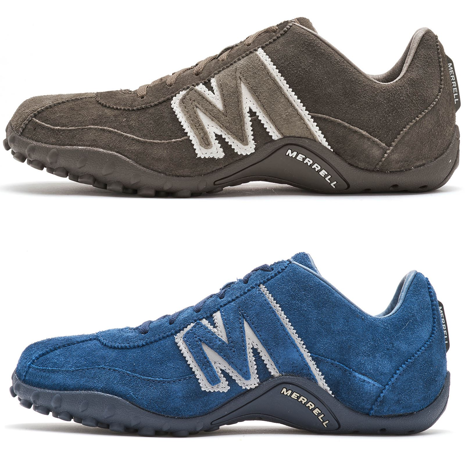 perfect quality distinctive design shop for newest Details about Merrell Sprint Blast Suede Shoes Lace Up Trainers in Gunsmoke  Grey & Aster Blue