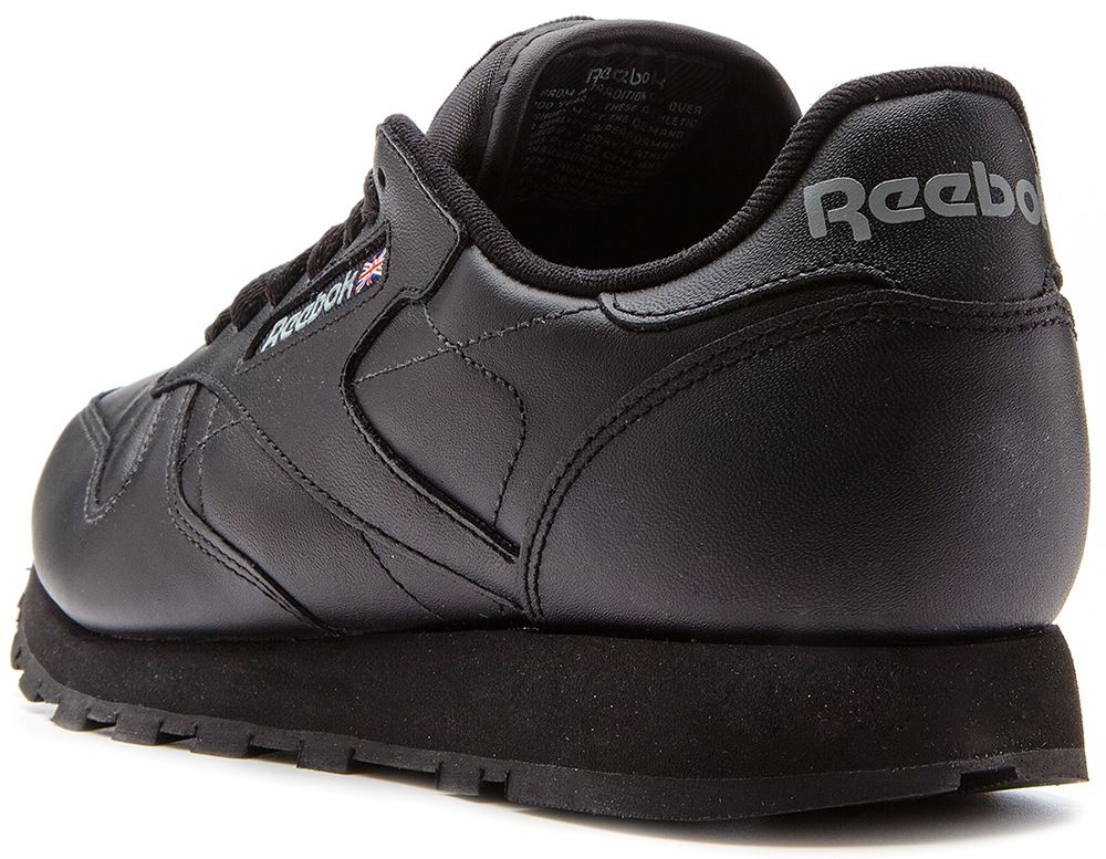 Reebok Classic Leather Retro Trainers in Black 2267