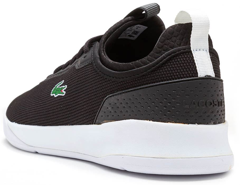 11ca6ded51 Lacoste LT SpirIt 2.0 317 1 SPM Trainers in Black & White 734SPM0024 ...