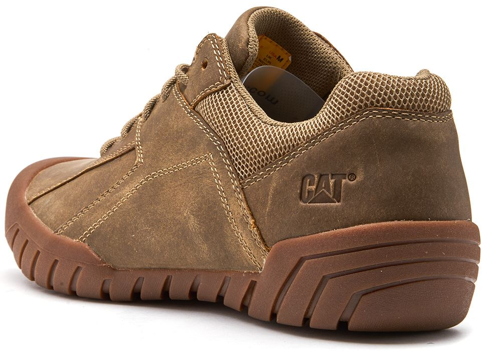 Caterpillar-CAT-Haycox-Shoes-Leather-Casual-Trainers-in-Brown-Taupe-amp-Grey thumbnail 4
