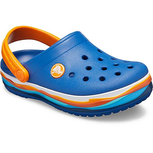 Crocs-Kids-Crocband-Rainbow-Wavy-Sequin-Relaxed-Fit-Clogs-Shoes-Pink-Blue-Orange thumbnail 21