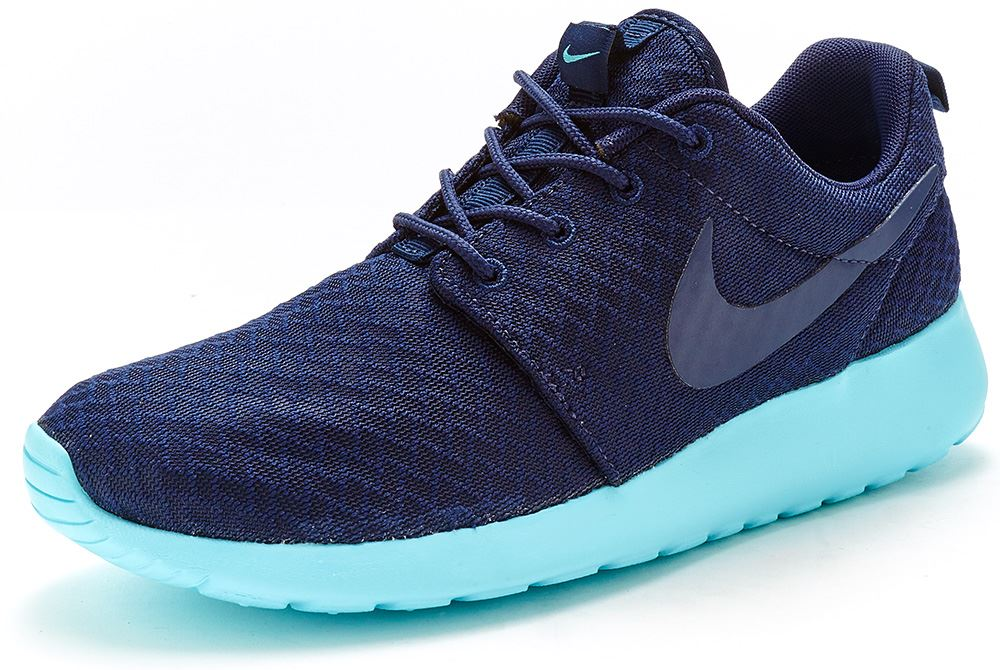 Nike Roshe Run One Women Trainers in Midnight Navy & Tide Pool Blue 511882  444