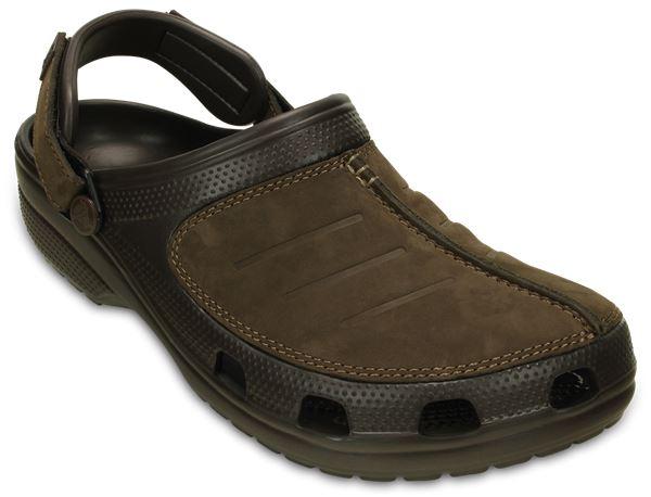 Crocs-Yukon-Mesa-Clog-Shoes-Sandals-in-Khaki-Espresso-Brown-amp-Navy-Blue-203261 thumbnail 10