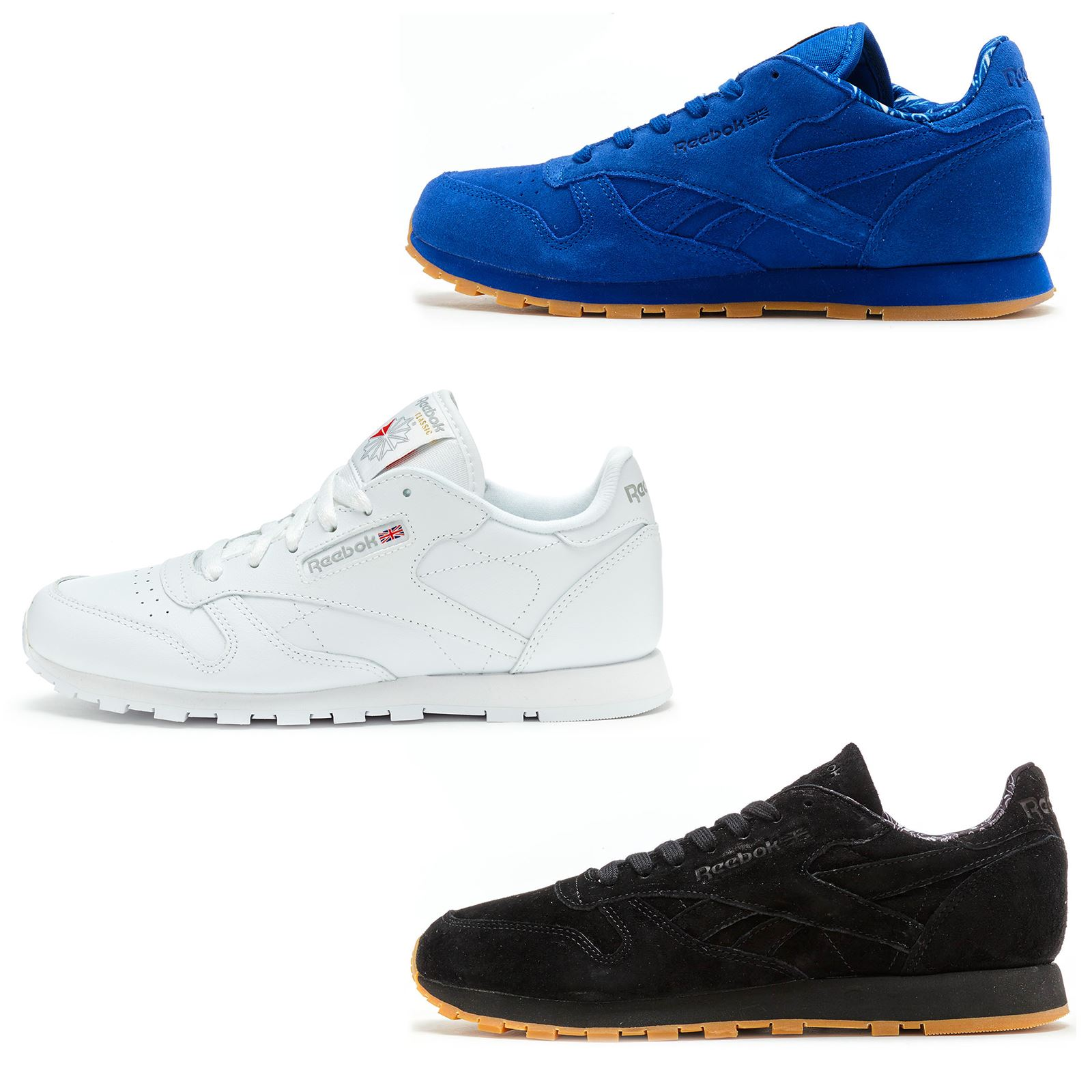 9575f9de55d5fa Reebok Classic Leather   Suede TDC   Primary School GS Trainers in All Sizes