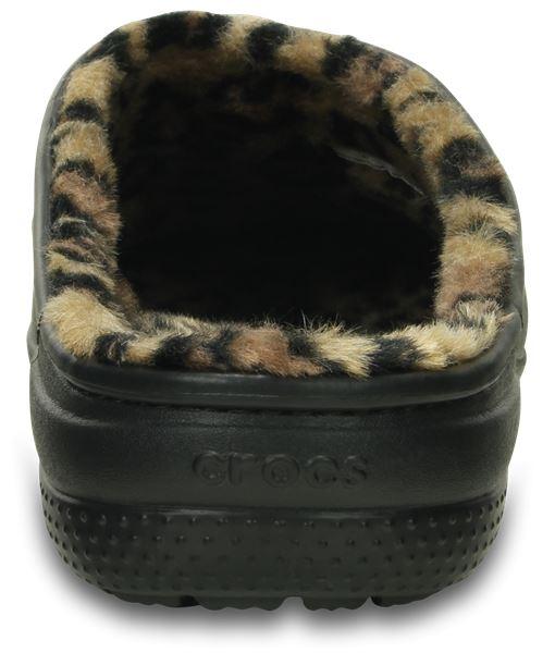 Crocs freesail gráfico y leopardo Fuzz Linned toque en Floral Print & Leopardo
