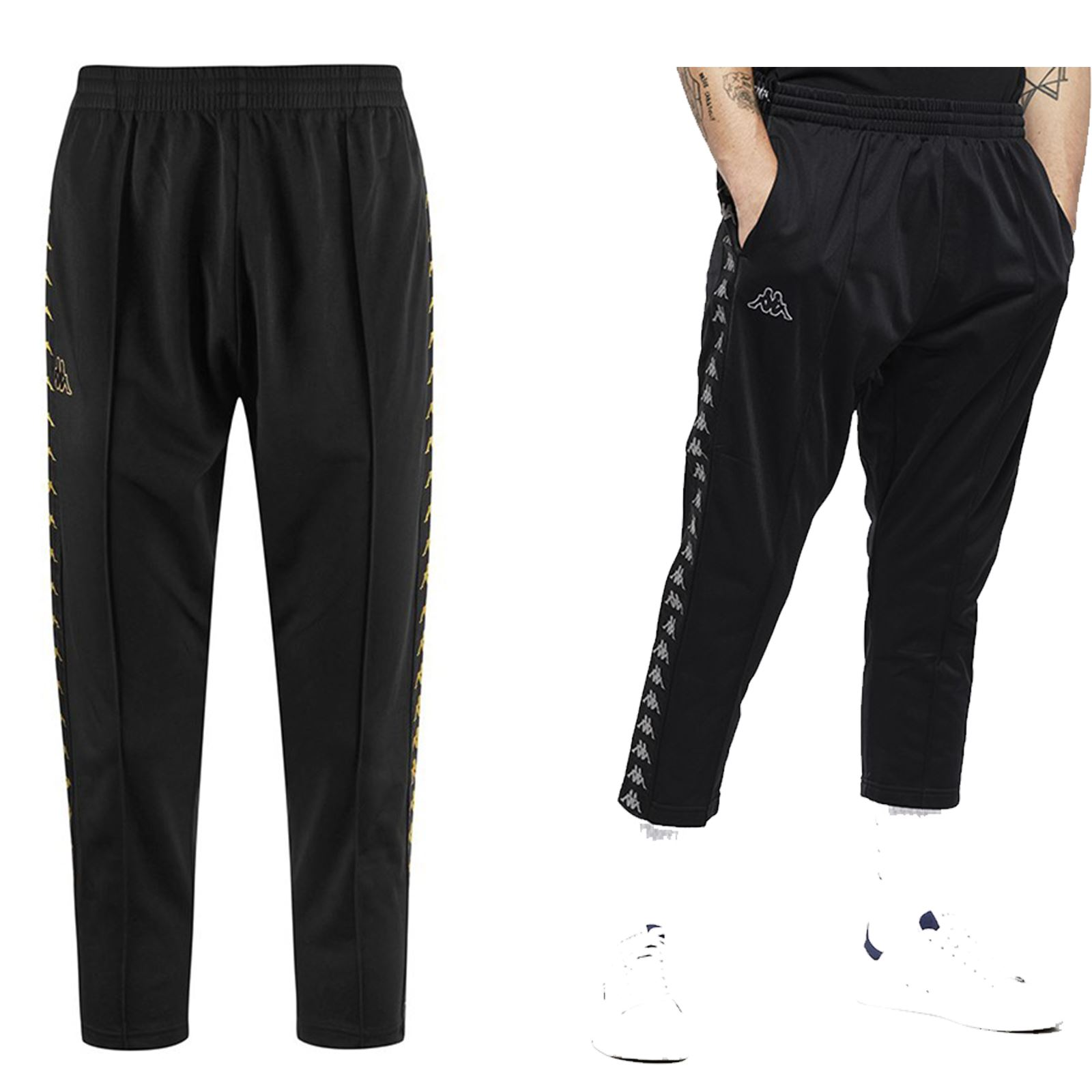 7a64d035b3e Details about Kappa Adern 222 Banda Pants Fleece Sweat Pants Track Jogging  Bottoms in Black