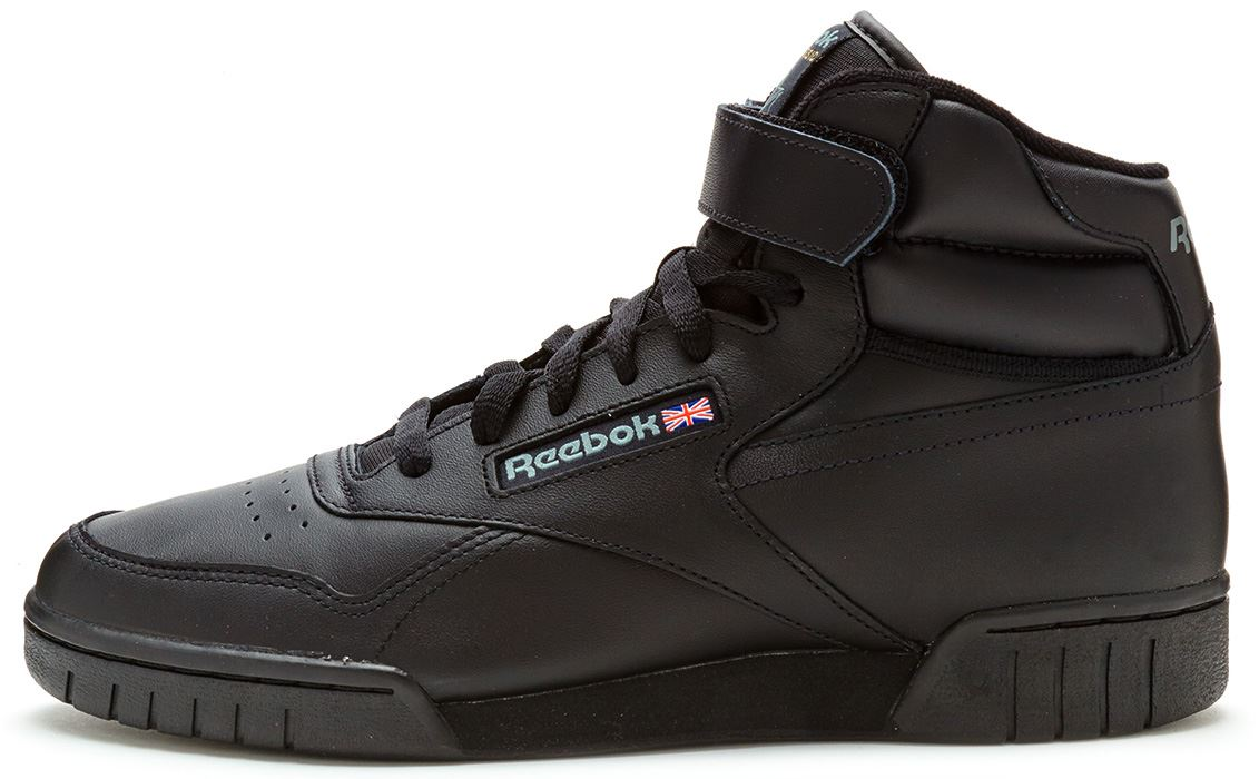 reebok classic exofit ex o fit hi leather trainers in. Black Bedroom Furniture Sets. Home Design Ideas