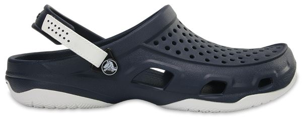 5c58e3535cf46f Men s Crocs Swiftwater Deck Clog M Strap Sandals in Black UK 6   EU ...
