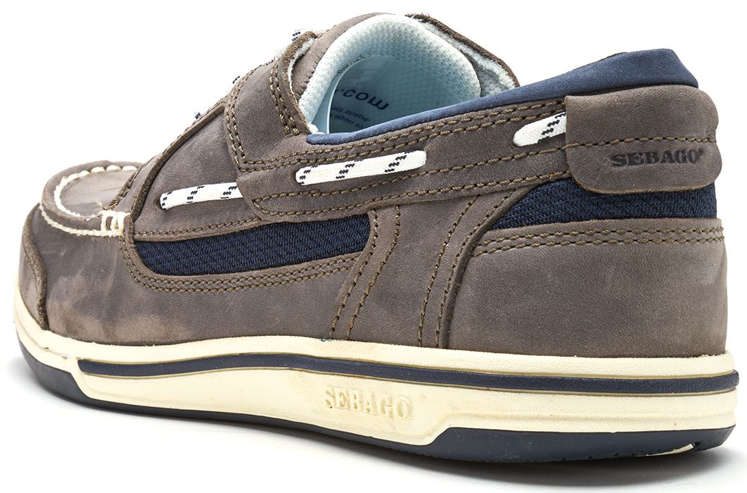 Sebago-Triton-Three-Eye-FGL-Suede-Boat-Deck-Shoes-in-Navy-Blue-amp-Brown-Cognac thumbnail 12