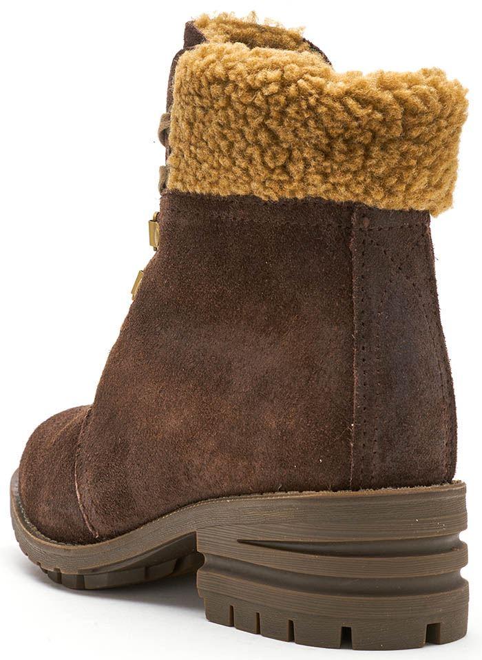 Caterpillar CAT Cora Fur Suede Women Winter Boots in in in Dark & Light Brown c3a581