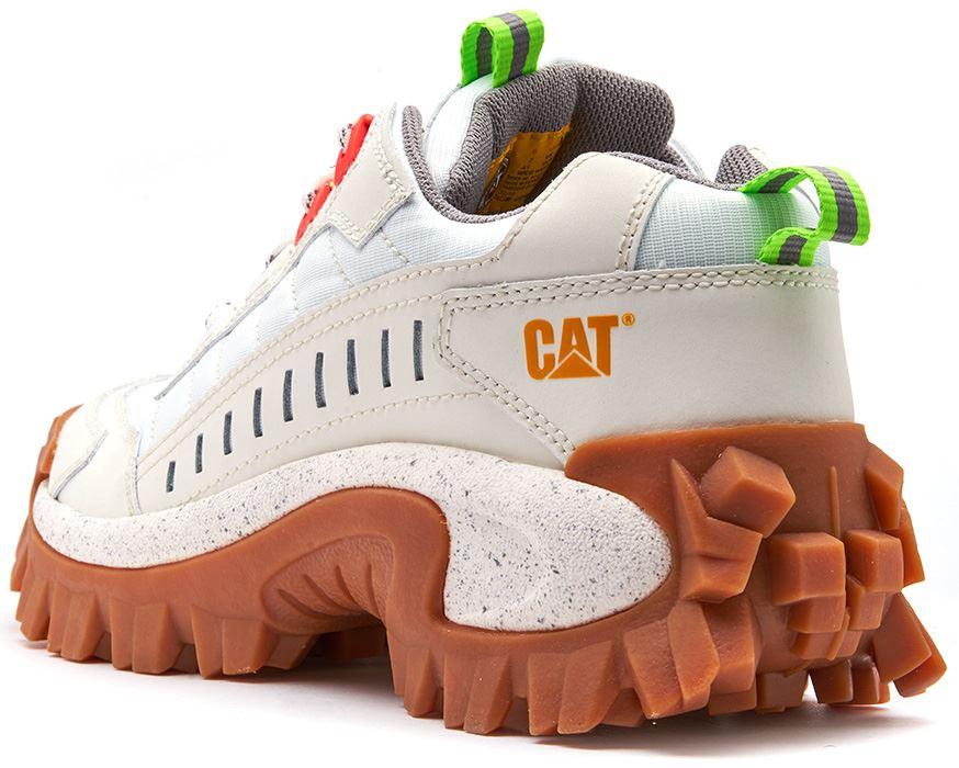 Caterpillar CAT Intruder Unisex Nubuck Nubuck Nubuck Chunky Sole Trainers in White & Red e7f645
