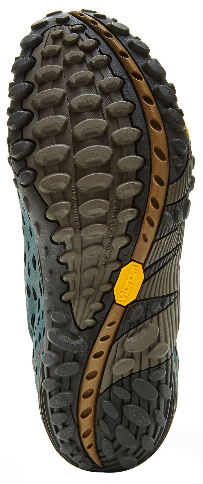 Merrell-Intercept-Hiking-Shoes-in-Moth-Brown-amp-Blue-Wing-amp-Black thumbnail 9