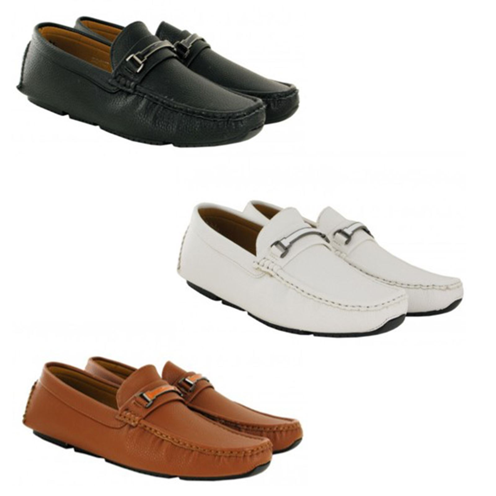 ae5054fec Details about Men Casual Leather Loafers Moccasins Slip Ons Shoes in Black