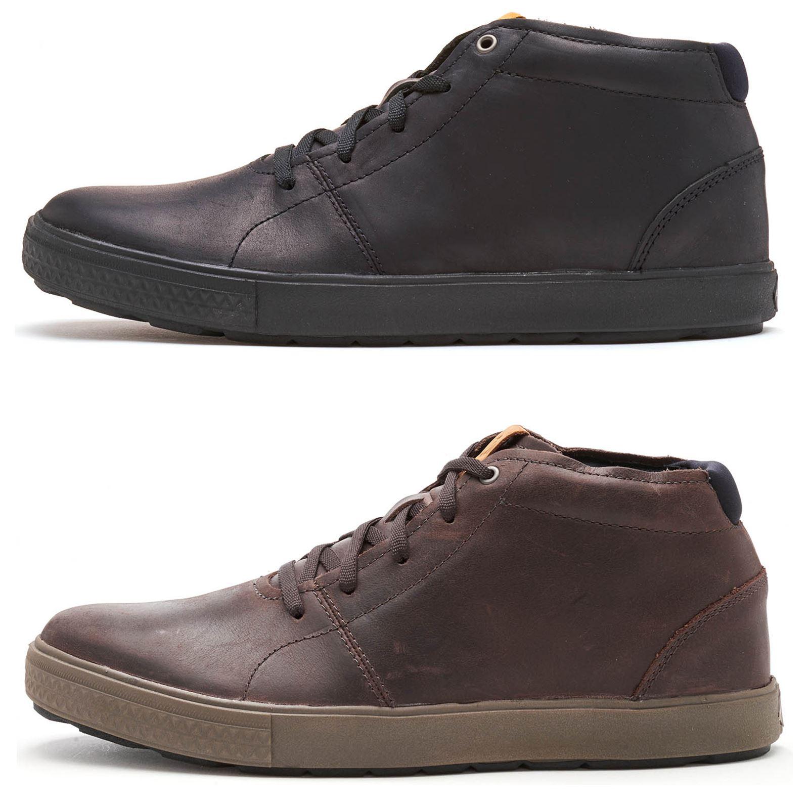 6d9ef94e5a Merrell Barkley Chukka Full Grain Leather Boots in Black & Brunette Brown