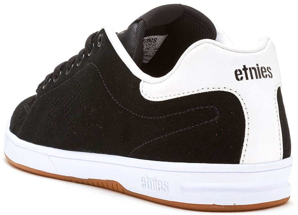 Etnies-Callicut-LS-Suede-amp-Leather-Vintage-Trainers-in-White-amp-Black-4101000474 thumbnail 8