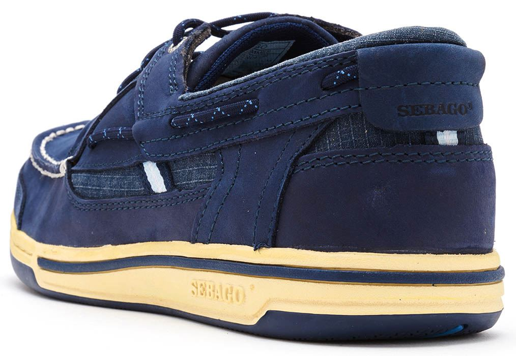 Sebago-Triton-Three-Eye-FGL-Suede-Boat-Deck-Shoes-in-Navy-Blue-amp-Brown-Cognac thumbnail 24