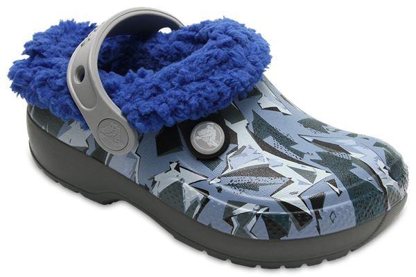 Crocs Kids Classic Blitzen III Inside Linning Relaxed Fit Graphic Clogs Sandals