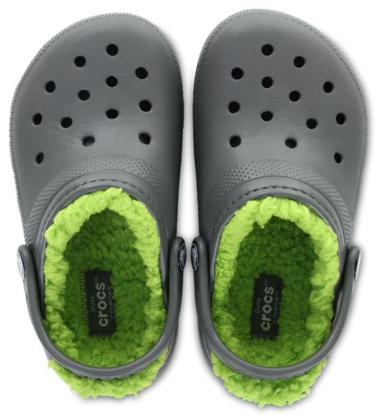 Crocs Kids Classic Fuzz Lined Roomy Fit Clogs Shoes Sandals 203506