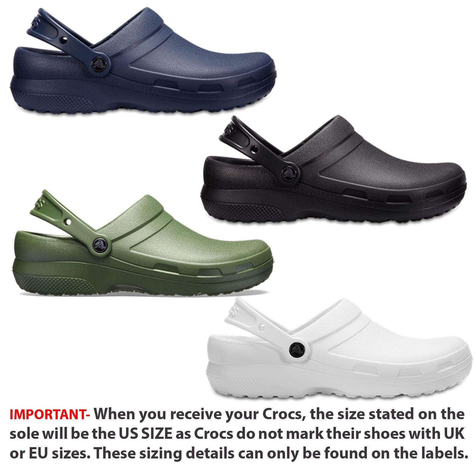 ebaaec7e77c8c8 Crocs Specialist II Medical Work Professionals Roomy Fit Clogs Shoes Sandals