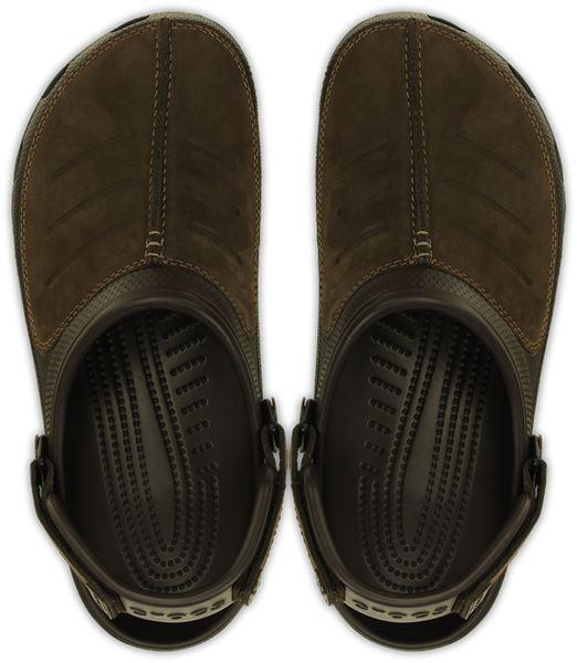 Crocs-Yukon-Mesa-Clog-Shoes-Sandals-in-Khaki-Espresso-Brown-amp-Navy-Blue-203261 thumbnail 13
