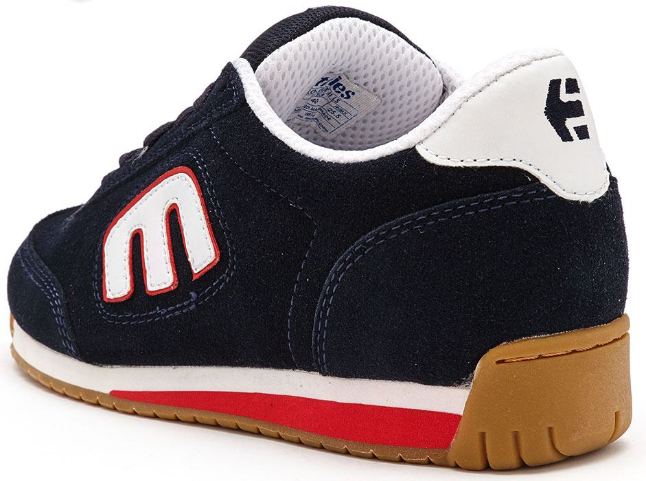 Etnies Lo Cut Ii Ls Skate Shoes White Blue Red