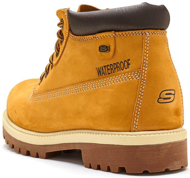 Skechers Sergeants Verdict Ankle Winter Bottes en Wheat & Gum 4442 WTG [UK 8EU 42] AjGu5