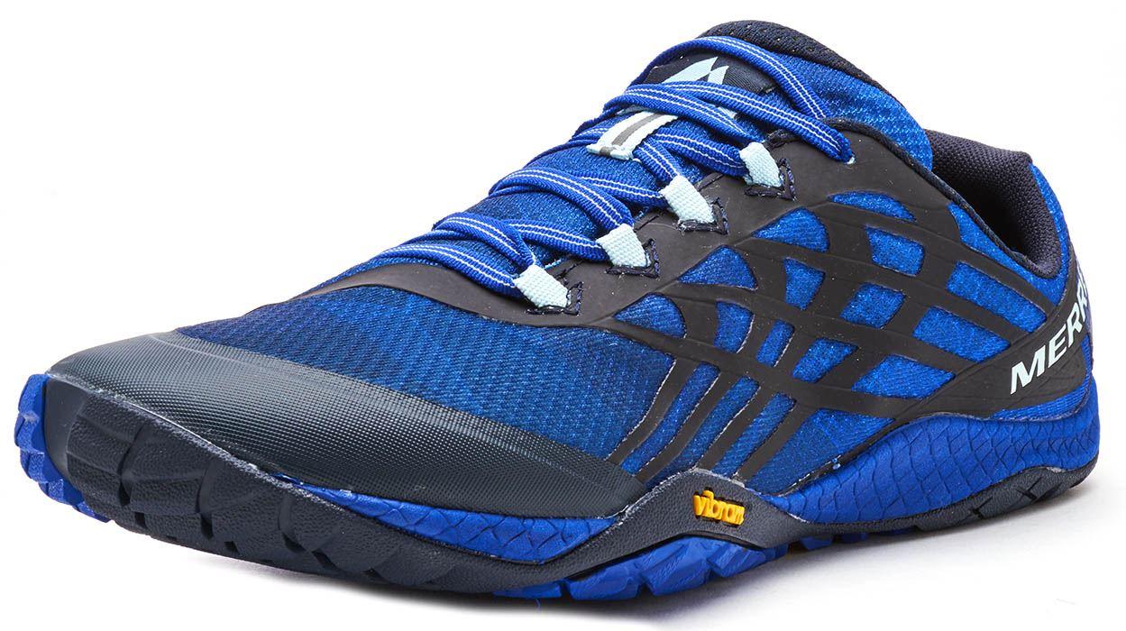Merrell-Trail-Glove-4-entrenadores-en-Nautica-y-deporte-Azul-Molten-Lava-Rojo-Y-Naranja miniatura 3