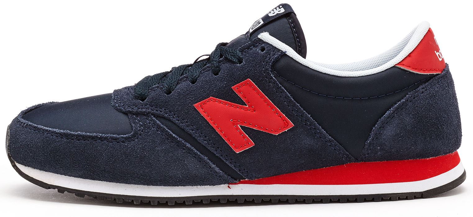 new balance grey red 420 trainers