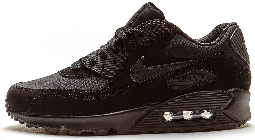 nike air max 90 leather all black