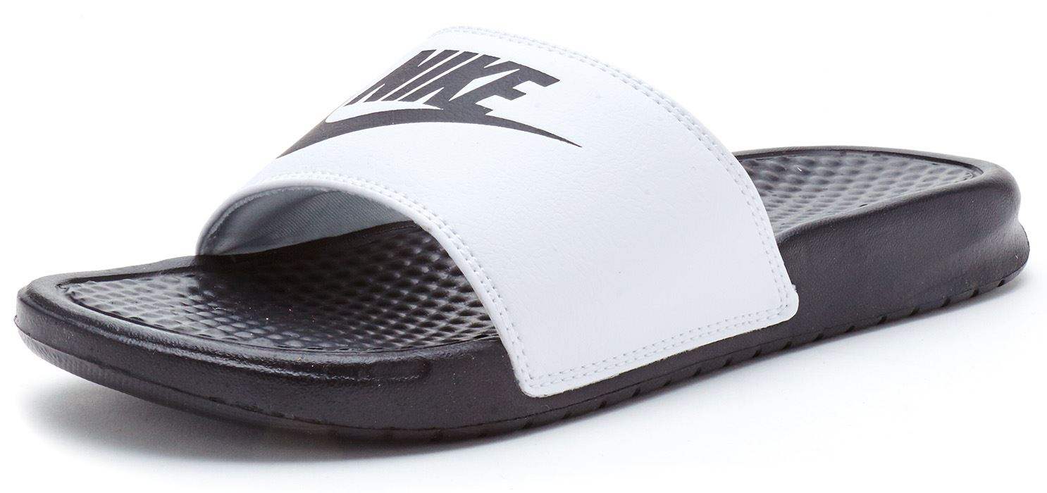 free shipping cfb73 3dcc9 reduced nike mens fashion beach slippers flip flops sandals. 231db 9b8f9   closeout nike benassi swoosh just do it slide 74133 eea9f