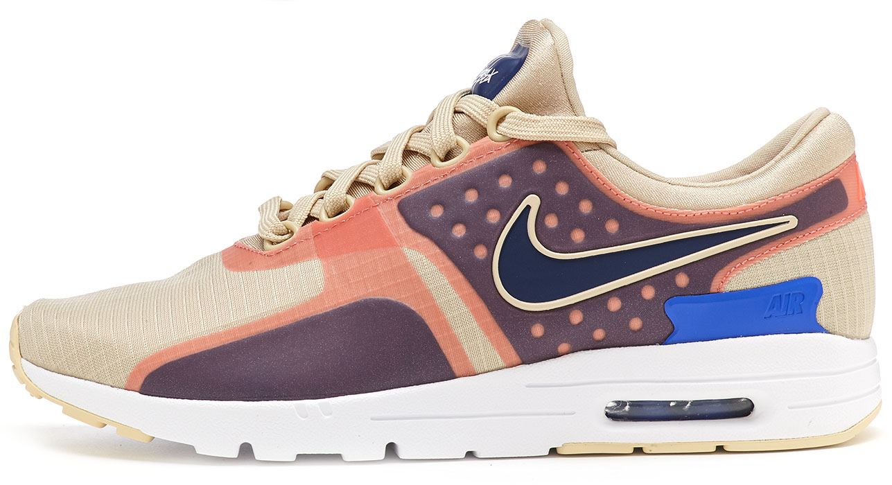 Nike Air Max Zero SI Donna Scarpe sportive in Beige BLU 881173 101 UK 6 EU