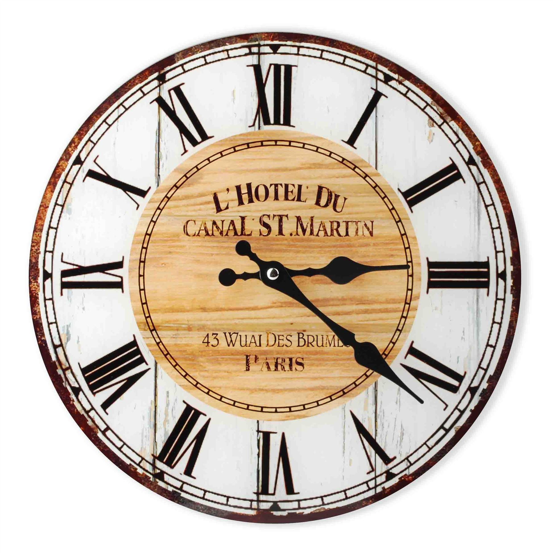 Vintage Country Shabby Chic Kitchen & Living Room Wall Clock in ...