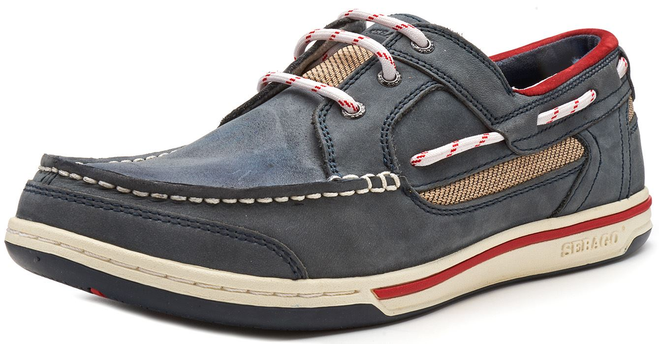 Sebago-Triton-Three-Eye-FGL-Suede-Boat-Deck-Shoes-in-Navy-Blue-amp-Brown-Cognac thumbnail 15