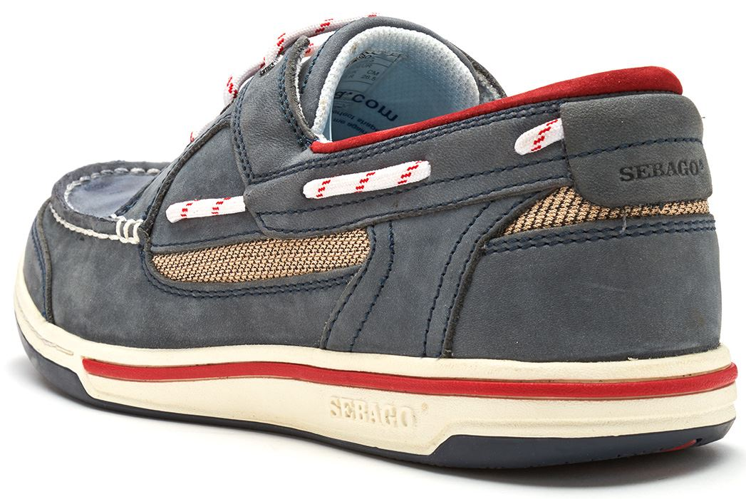 Sebago-Triton-Three-Eye-FGL-Suede-Boat-Deck-Shoes-in-Navy-Blue-amp-Brown-Cognac thumbnail 16