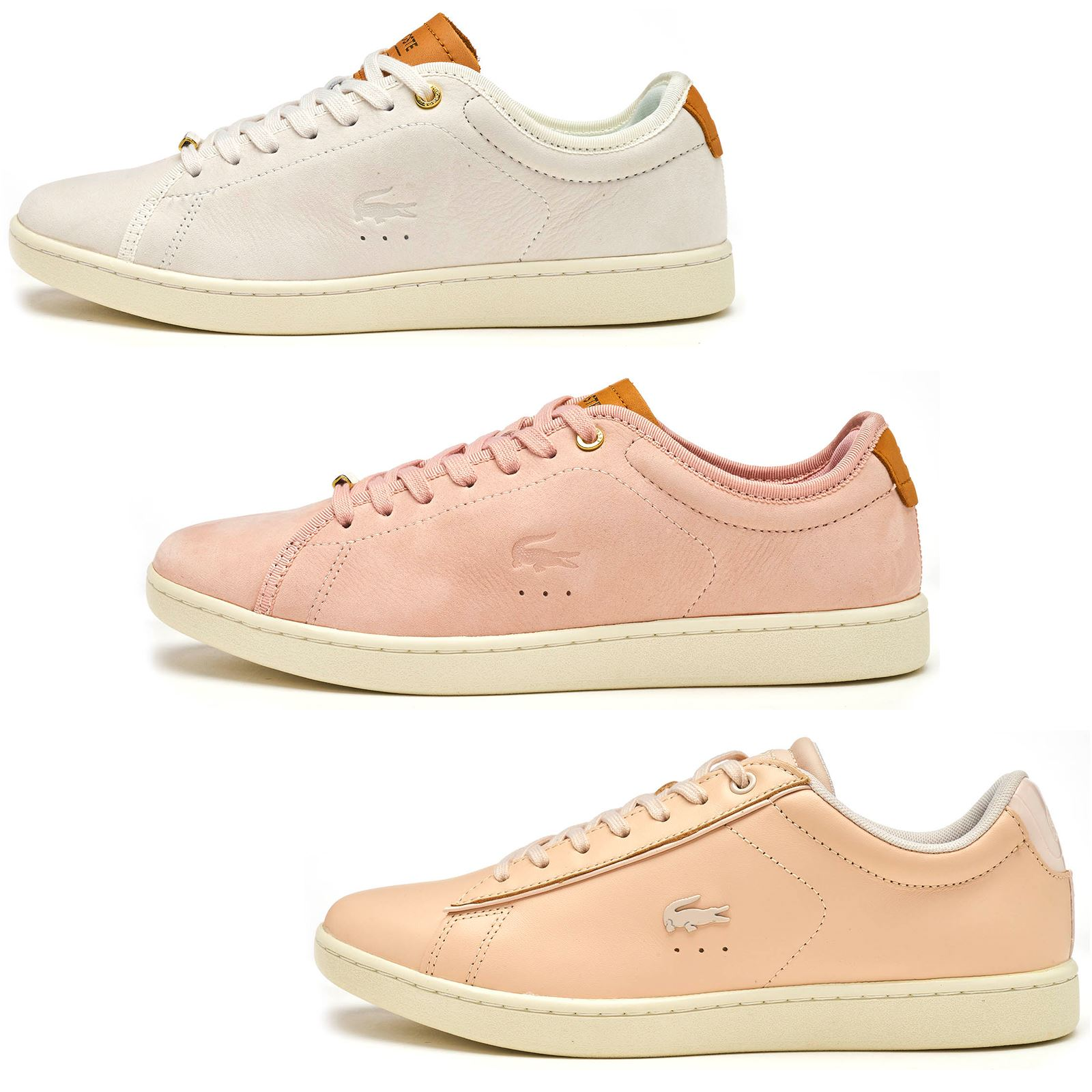 6ba519a09a2 Lacoste Carnaby EVO 317   417 SPW femmes cuir   Suede Trainers in Pink    blanc