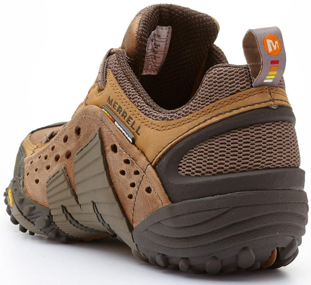 Merrell-Intercept-Hiking-Shoes-in-Moth-Brown-amp-Blue-Wing-amp-Black thumbnail 12