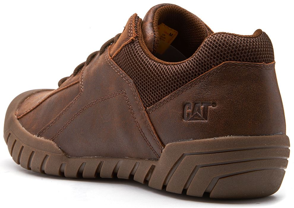 Caterpillar-CAT-Haycox-Shoes-Leather-Casual-Trainers-in-Brown-Taupe-amp-Grey thumbnail 12