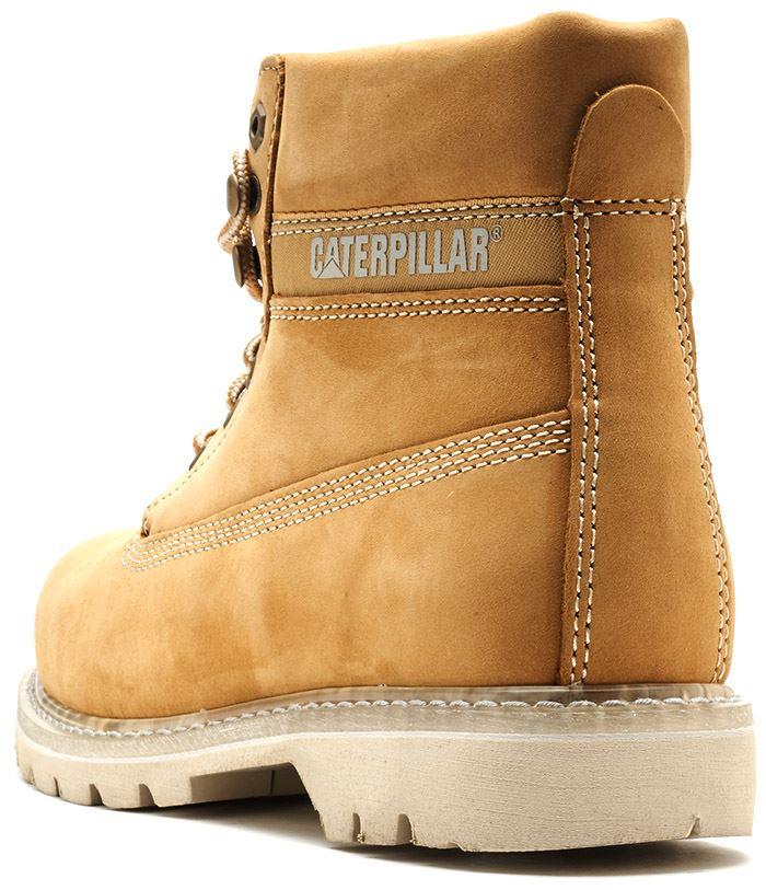 Details zu Caterpillar CAT Colorado Boots in Royal Brown & Honey Wheat