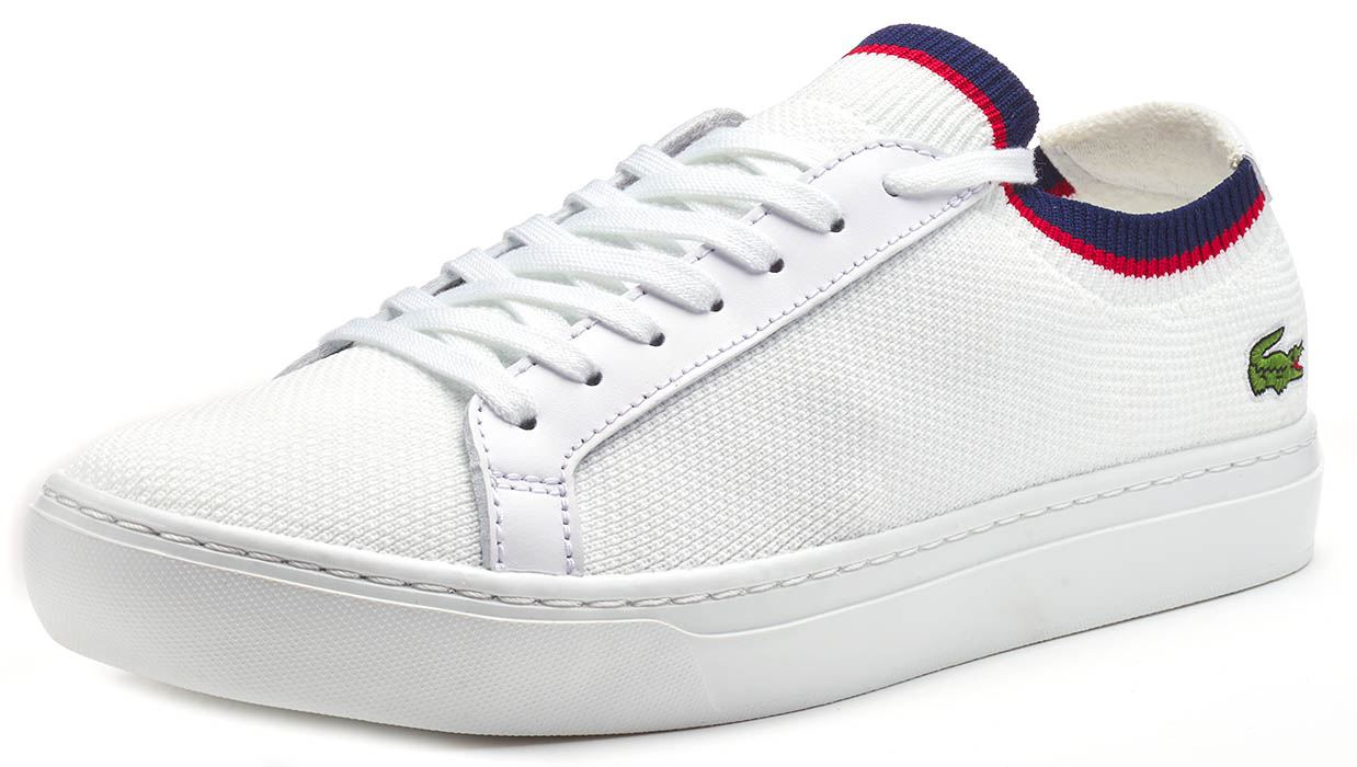 Lacoste-La-Piquee-119-1-CMA-Lace-Up-Textile-Trainers-in-White-amp-Green-amp-Blue thumbnail 7