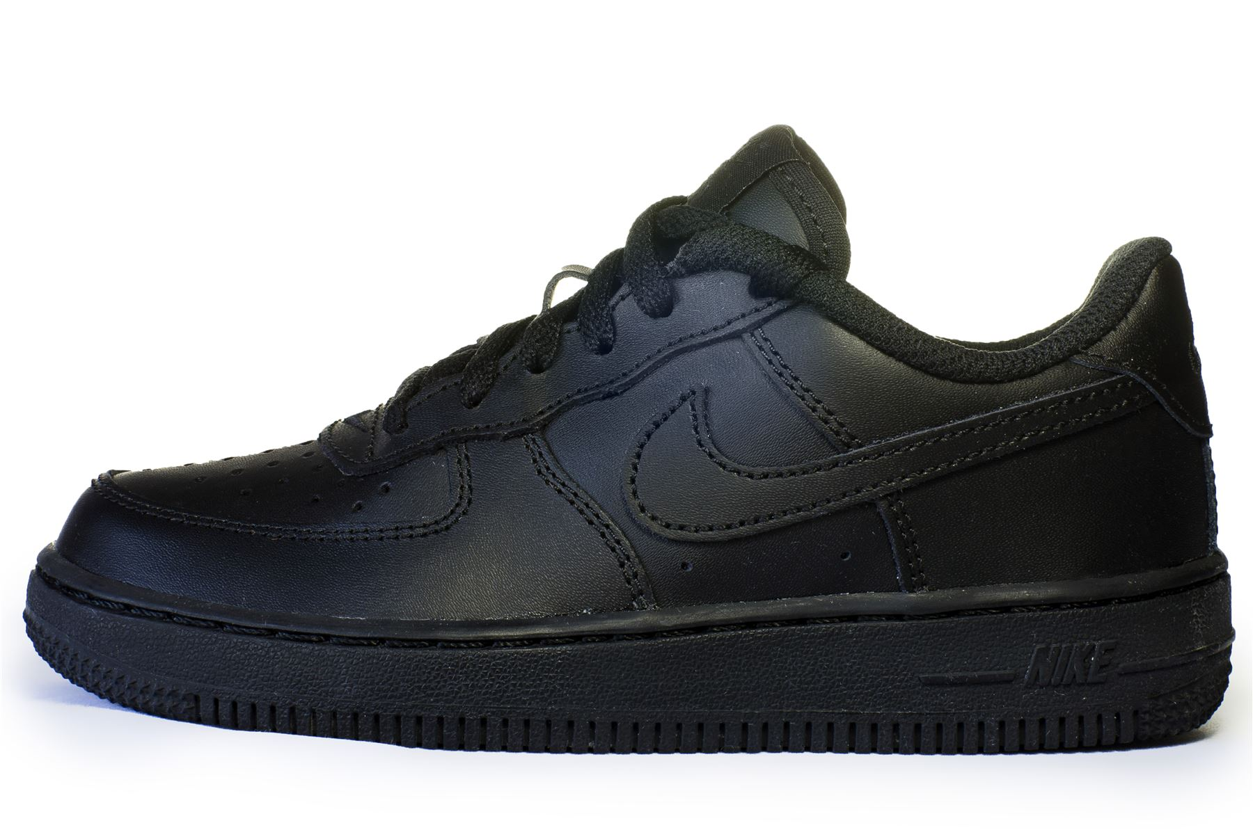 Scarpa in pelle Nike Air Force 1 PS bambini formatori in nero 314193 009 931486bf52c
