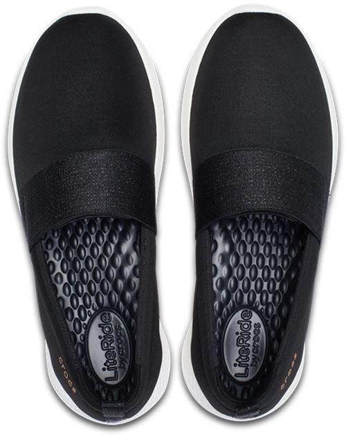 da 205103 donna nero On rimovibili Slip Ride Crocs Lite ginnastica in Scarpe e grigio qvXaHgXxw