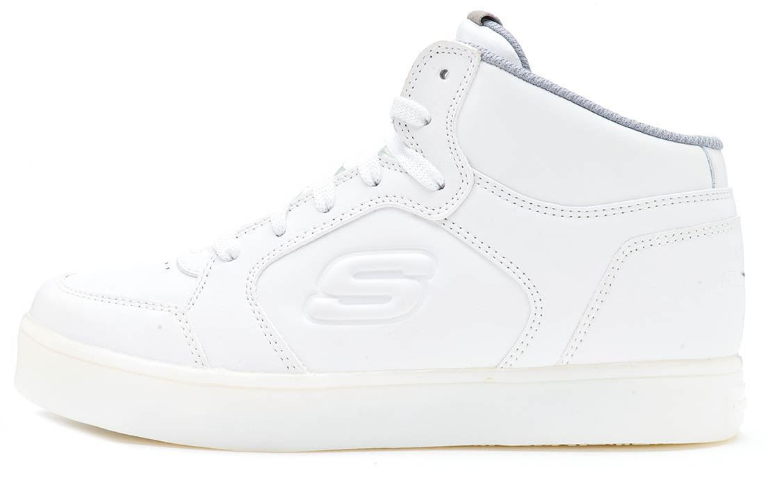 Skechers Sk90600 Energy Lights White Kids Light up High Top Trainers Size 28 39 36