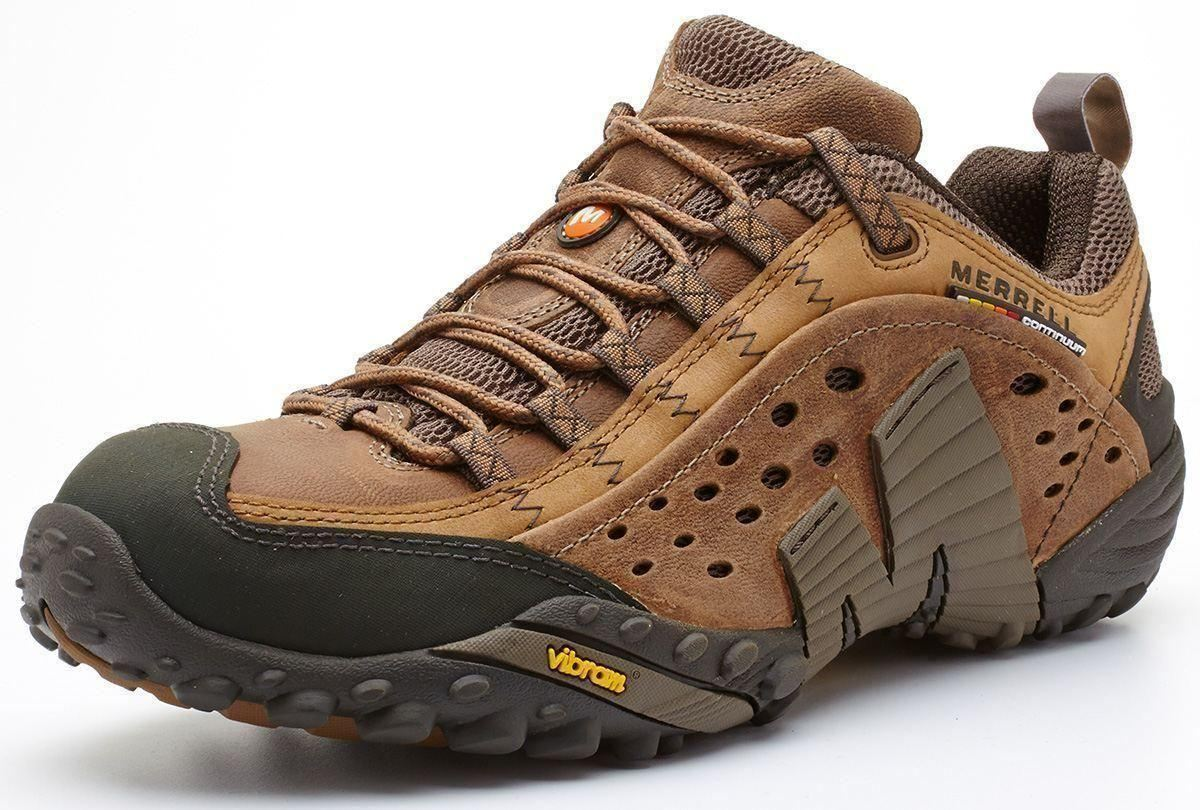 Merrell-Intercept-Hiking-Shoes-in-Moth-Brown-amp-Blue-Wing-amp-Black thumbnail 11